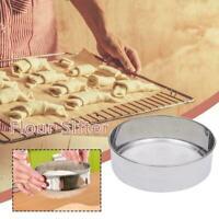 Stainless Steel Flour Sieve Kitchen Fines Mesh Oil Strainer Sugar Filters Z8C7