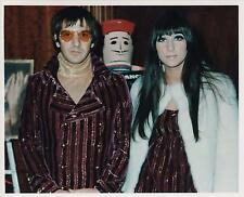 "YOUNG SONNY and CHER PHOTO 10"" x 8"" (20cms x 30cms) HIGH QUALITY SATIN PRINT"