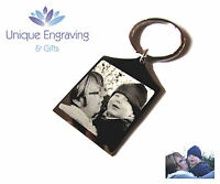 Personalised Photo Engraved Baby 3D//4D Scan Rectangle Keyring Great Gift Idea!