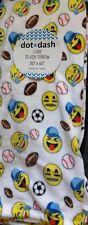 "Emoji sport Luxe Plush Throw Blanket 50""x60 New"