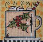 Needlepoint Handpainted Maggie Co Christmas Chocolate 4x4