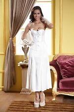 SALE 50% OFF!!Womens Bridal Wedding White Corset Classic Bustier (8.10.12.14)