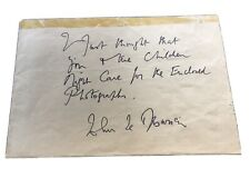 More details for john le mesurier dads army signed note on envelope with new photo