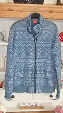 Boy's HUGO BOSS Zip Up Jacket Top Age 12 (xxl) In a Blue Retro Design SUPER!