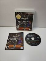 White Knight Chronicles 2 (Sony PlayStation 3, 2011) with Manual Mint Disc