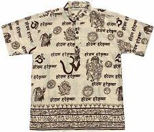Hindu Print Kurta Shirt: India Om Ganesh Shiva Hare Krishna henley S M L XL 2XL
