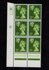 SCOTLAND 1988 22p TYPE II CYL BLOCK MACHIN MNH SG S48EA £330