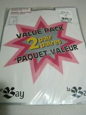 Pantyhose The Bay Queen Size Plus Value Pack Q-1 Linen Sealed Canada 2 Pair