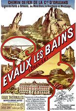 Affiche chemin de fer Orléans - Evaux-les-Bains