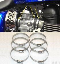 6 STAINLESS clips Triumph Bonneville America Scrambler Airbox-Carburettor-Inlet