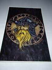 Scandinavian Swedish Norwegian Viking Runes Poster Print by Micah Holland #5030