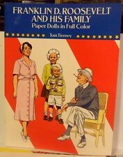 1990 Franklin Roosavelt and Family Paper Doll Book by Tom Tierney