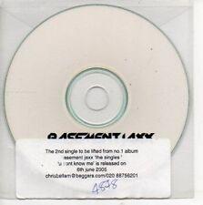(AP548) Basement Jaxx, U Don't Know Me - DJ CD