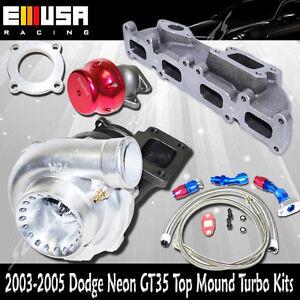 GT35 Turbo Kits for 03-05 Dodge Neon SRT-4 Sedan 4d 2.4L 2429CC Up to 500HP