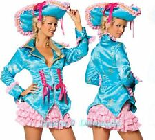 Sexy 3pc Roma Costume Caribbean Turquoise Pirate Dress, Jacket, Hat, Skirt S/M