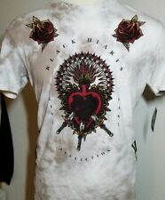 Affliction. Black Label Mens Short Sleeve Crew Neck Beige T-Shirt Size M.