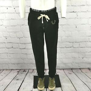 Men's True Religion Sweatpants in Black Cotton Joggers Track Pants