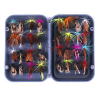 32pcs/Box Assortment of Trout Flies for Fly Fishing Wet Dry Nymph Buzzers Lures