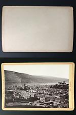 Deutschland, Die Rheinlande, Bingen Vintage silver print, carte cabinet.  Tira