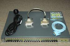 Cisco WS-C3750-24FS-S Switch 24-Port 100BASE-FX 2 SFP w/Racks + CAB-STACK-50CM