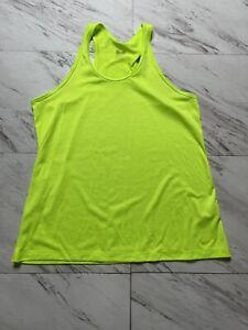 Womens Nike Dri Fit Tanke Top Size XL Neon Yellow Volt Racerback Running