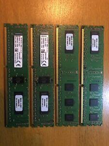 4x Kingston 4GB 1Rx8 PC3-12800R-11-12-A1 (16GB) DDR3 SDRAM Server RAM