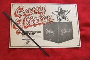 GARY GLITTER 1972 ORIGINAL VINTAGE ADVERT - GLITTER ALBUM LP BELL RECORDS