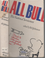 B S JOHNSON ALL BULL THE NATIONAL SERVICEMEN FIRST EDITION PICTORIAL HB 1973