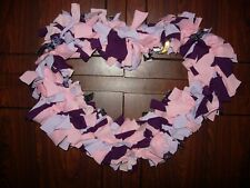 Handcrafted Heart Shaped Double Rag Wreath-#V4-3