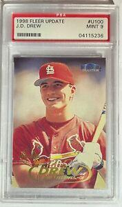 1998 FLEER UPDATE TRADITION #U100 PSA 9 MINT JD DREW MLB BASEBALL CARD CARDINALS