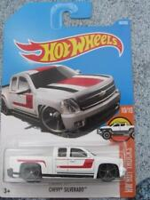 Hot Wheels 2017 #060/365 CHEVY SILVERADO white HW Hot Trucks Long Card