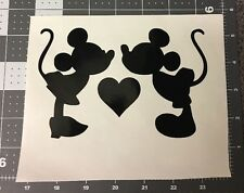 """'MICKEY AND MINNIE KISSING MOUSE  DISNEY"""" Vinyl Decal Sticker Home Car Laptop"""