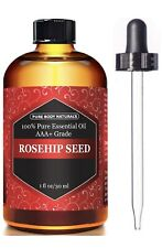 Rosehip Oil for Face Nails Hair and Skin 100% Pure Organic Cold Pressed Rose 1oz