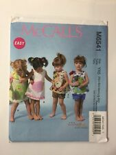 McCall's 6541 Size Nbn-Xlg Infants' Top Dress Shorts Appliques
