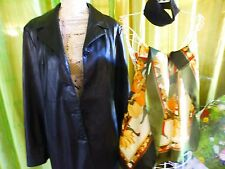 T42-44 noir manteau femme  CAMAIEU+foulard et bandeau noir offerts