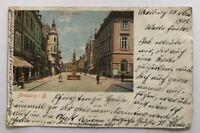 AK Freiburg - Kaiserstrasse - 23.5.1902 nach Freiburg