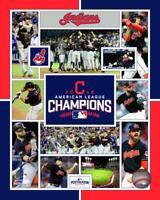 """2016 AL CHAMPS """"Cleveland Indians"""" LICENSED Francisco Lindor, Kluber+ 8x10 photo"""