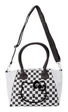 NEW AUTHENTIC SANRIO HELLO KITTY HANDBAG TOTE BAG PURSE black white Checker