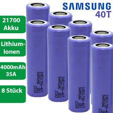 8 x Samsung INR21700-40T Li-Ion 4000mAh 35A 3,6-37V Akku