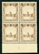 China 1937 Manchukuo ½ fen Definitive (Scott #83) Plate #1 Margin Block MNH X595