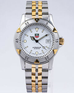 TAG Heuer Stainless Steel Men's 1500 Series Quartz WD1221-K-20 Two Tone!
