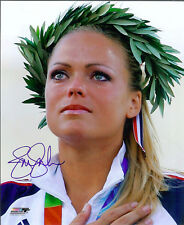 Usa Gold medalist Jennie Finch autographed posed Photo bonus signing photo