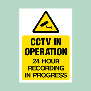 CCTV Plastic Sign/Sticker - All Sizes - Security, Warning, Camera (MISC15)