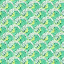 By 1/2 Yard ~ Tula Pink ZUMA ~ White Caps in Seaglass ~ Free Spirit Fabric