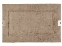 John Lewis Cotton Deep Pile With Micro fresh Stone Bath Mat Brand New RRP £30.00