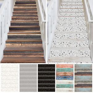 7-21Pcs Stair Stickers Stair Riser Vinyl Wall Mural Tiles Decals Self Adhesive