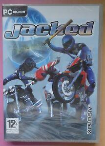 JACKED PC CD-ROM MOTORCYCLE BATTLE GAME brand new & sealed RARE UK ORIGINAL