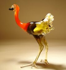 "Blown Glass Figurine ""Murano"" Art Gorgeous OSTRICH Bird"