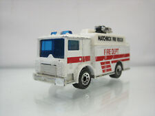 Diecast Matchbox Mack Auxiliary Power Truck Fire Dept 1991 White Good Condition