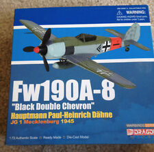 NEW Dragon 1/72 Fw190A- Black Double Chevron  Paul Heinrich Dahne JG1